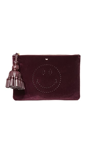 Anya Hindmarch Georgiana Smiley Clutch