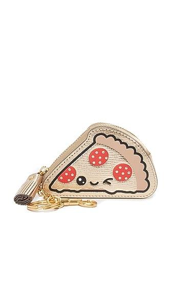 Anya Hindmarch Кошелек для монет с брелоком для ключей и изображением куска пиццы