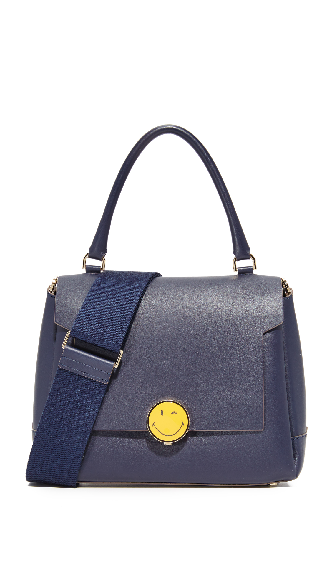 Anya Hindmarch Bathurst Small Satchel - Indigo