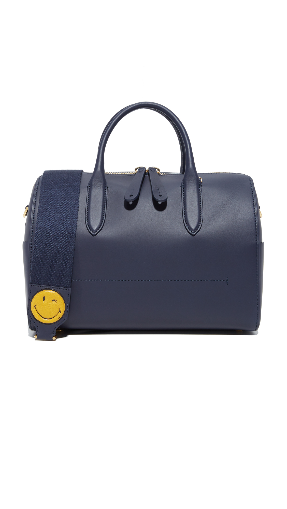 Anya Hindmarch Vere Barrel Handbag - Indigo