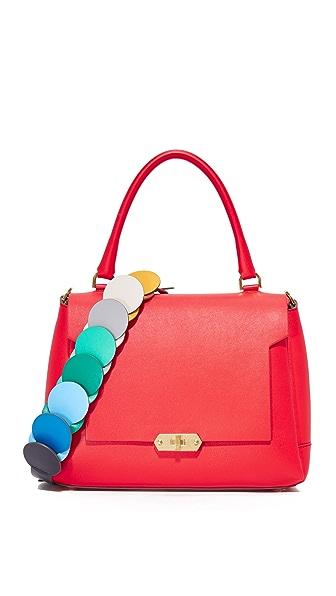 Маленькая женская сумка Портфель сине коричневая