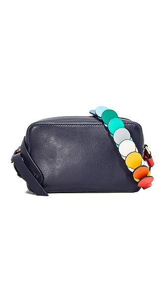 Anya Hindmarch Mini Cross Body Bag In Indigo