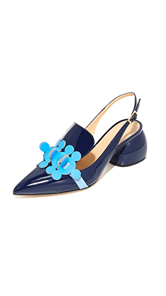 Anya Hindmarch Slingback Pumps