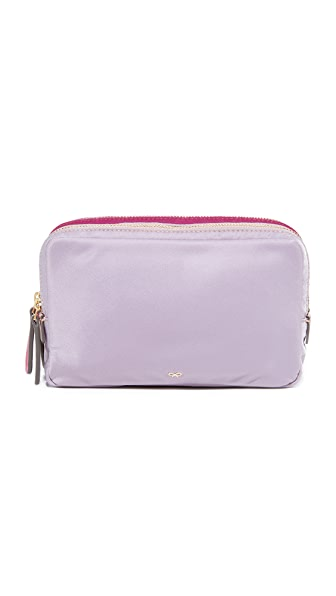 Anya Hindmarch Stack Triple Makeup Pouch - Rose