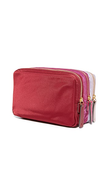 Anya Hindmarch Stack Triple Makeup Pouch