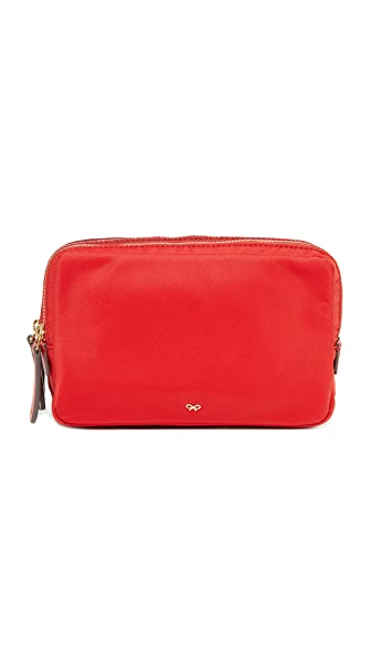 Anya Hindmarch Stack Triple Makeup Pouch - Bright Red