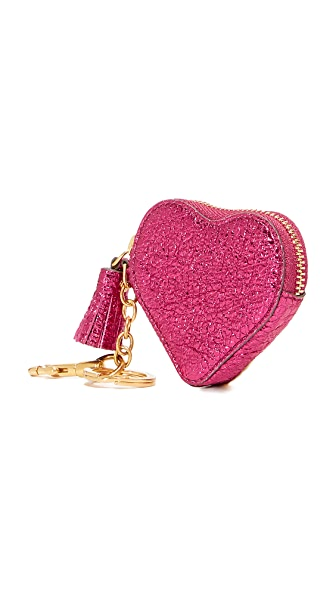 Anya Hindmarch Heart Coin Pouch - Raspberry
