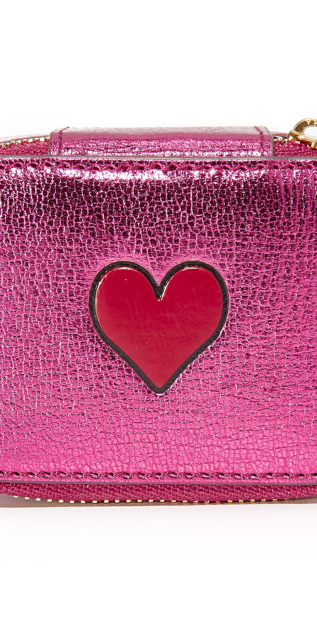 Anya Hindmarch Metallic Heart Pouch