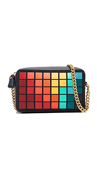 Anya Hindmarch Giant Pixels Mini Cross Body Bag In Marine