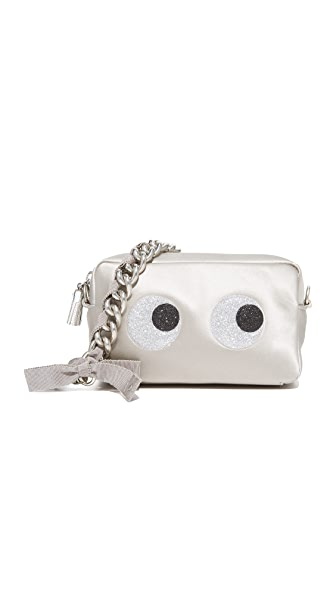 Anya Hindmarch Glitter Eyes Chain Clutch - Silver