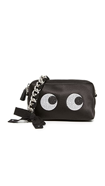 Anya Hindmarch Glitter Eyes Chain Clutch - Black