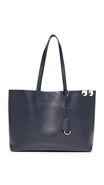 Anya Hindmarch Circus Eyes Shopper Tote - Marine
