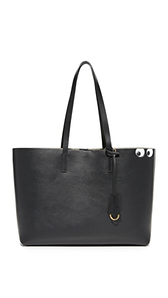 Anya Hindmarch Circus Eyes Shopper Tote - Black
