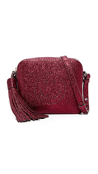Anya Hindmarch Smiley Cross Body Bag - Oxblood