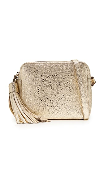 Anya Hindmarch Smiley Cross Body Bag - Pale Gold