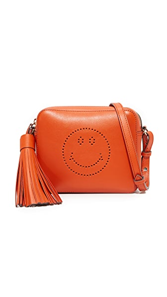 Anya Hindmarch Smiley Cross Body Bag - Bespoke Orange