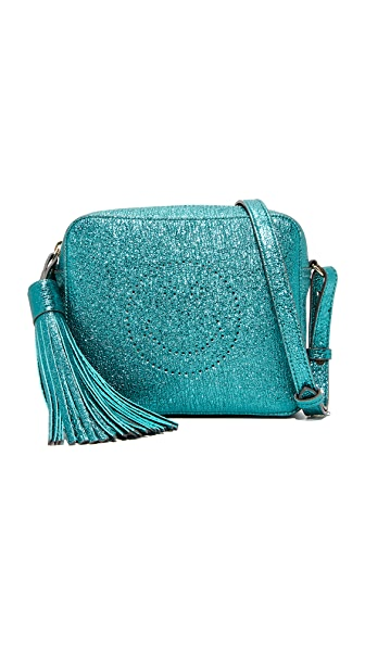 Anya Hindmarch Smiley Cross Body Bag In Dark Teal