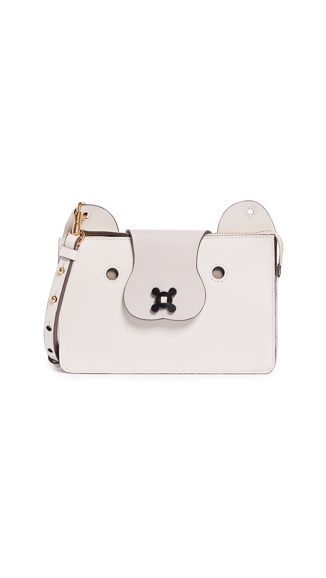 Anya Hindmarch Husky Cross Body Pouch - Porcini