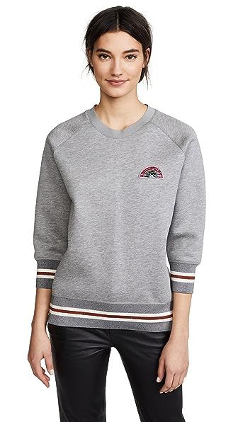 Anya Hindmarch Rainbow Patch Sweatshirt In Light Slate