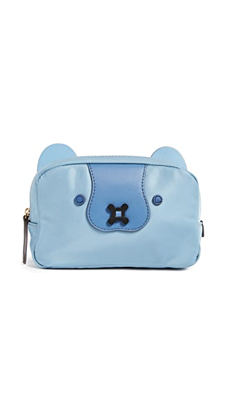 Anya Hindmarch Husky Makeup Pouch In Cornflower Blue