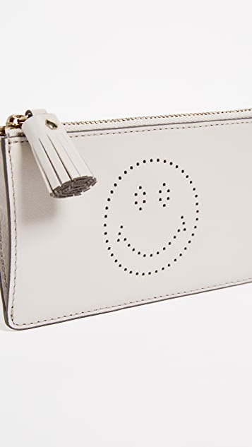 Anya Hindmarch Zipped Smiley Card Case