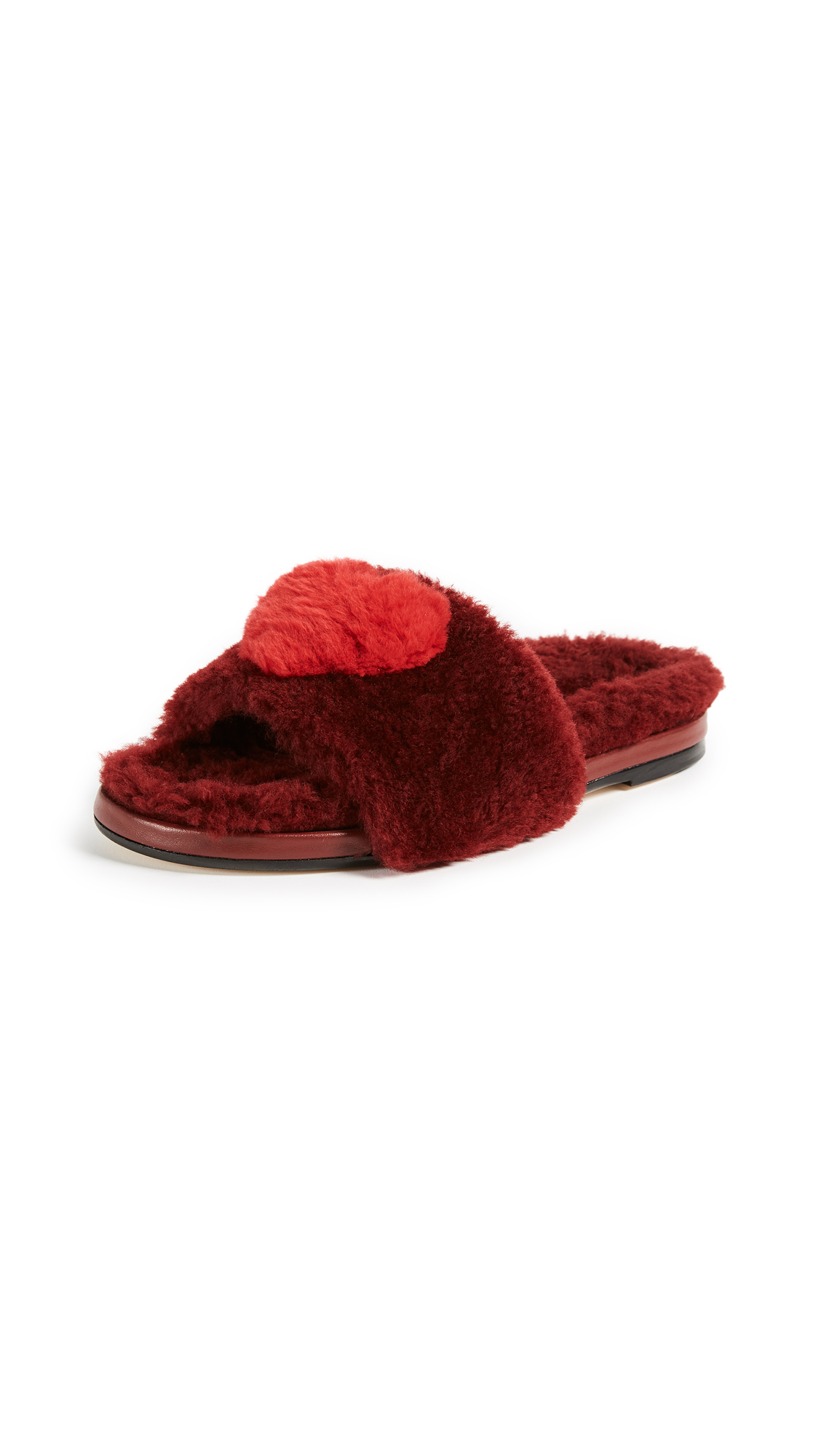 Anya Hindmarch Heart Slides - Red
