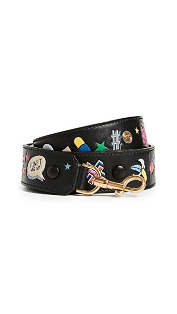 Anya Hindmarch Black Allover Wink Shoulder Strap