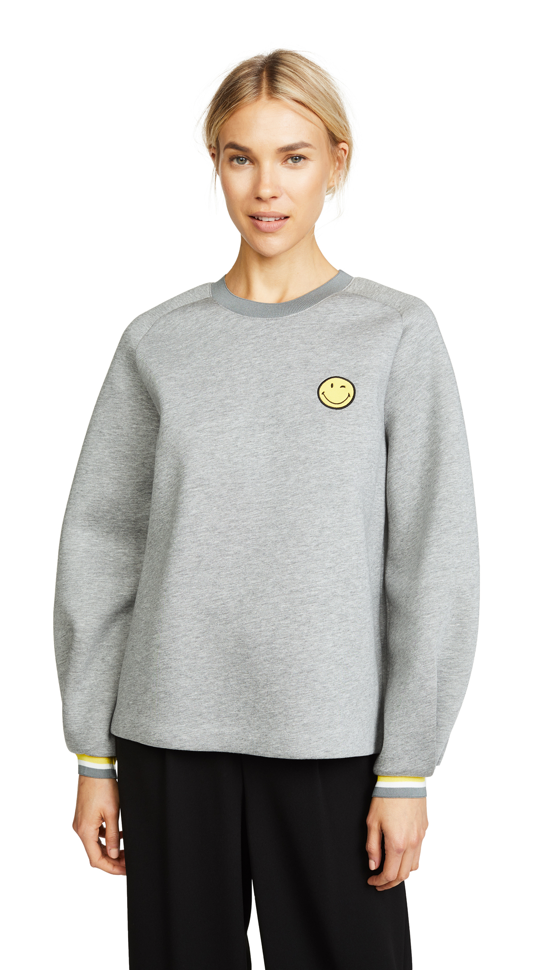 Anya Hindmarch Wink Sweatshirt In Light Slate