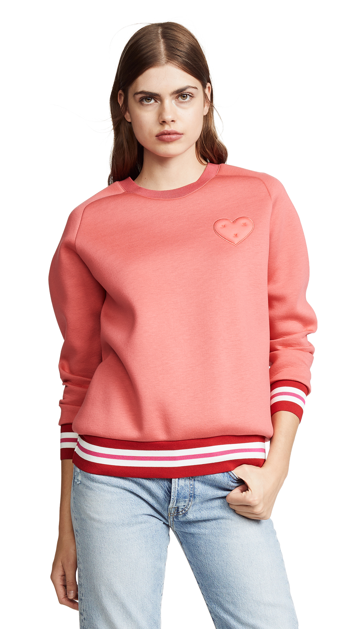 Anya Hindmarch Chubby Heart Sweatshirt In Red