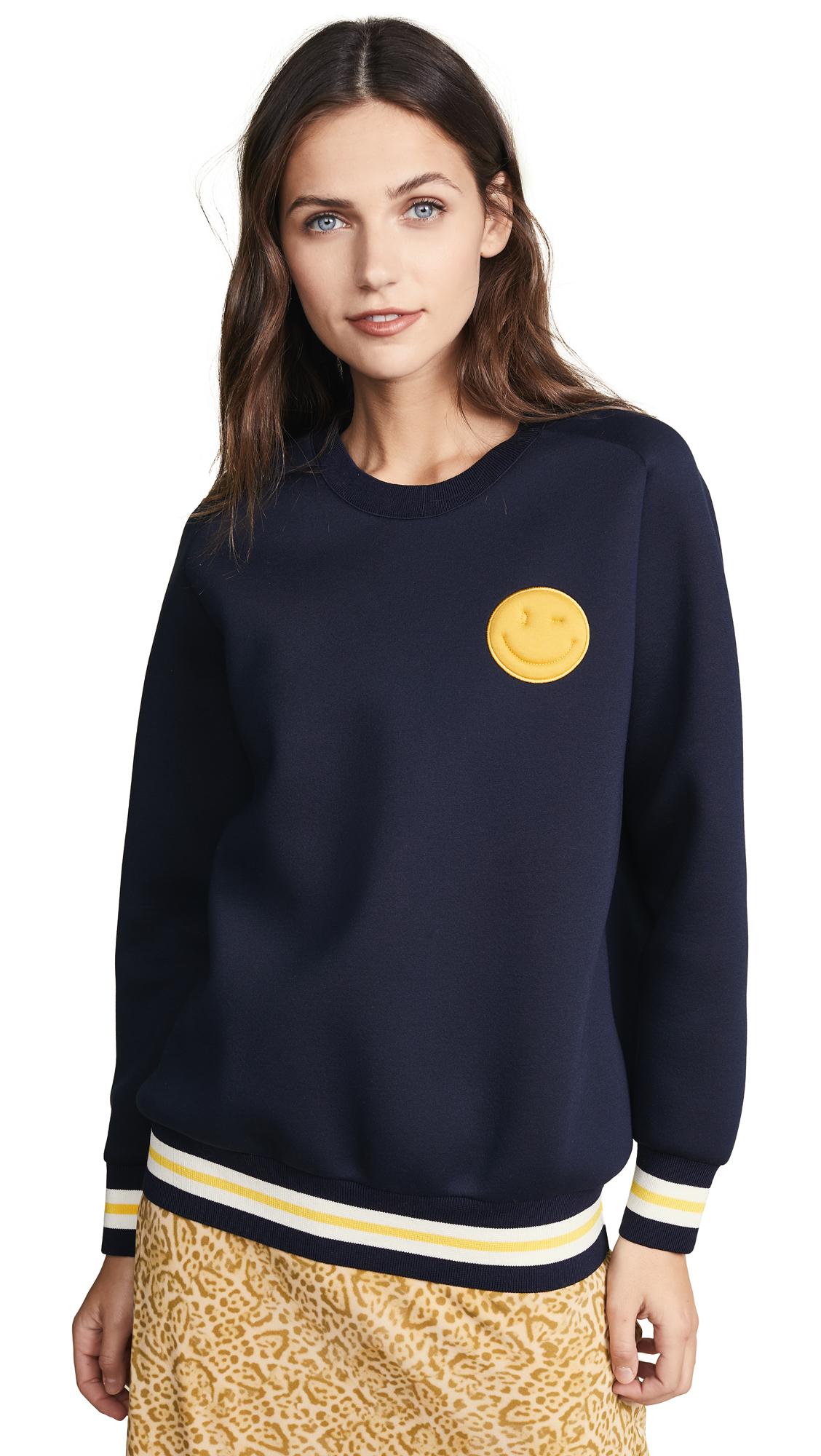 Anya Hindmarch Chubby Wink Sweatshirt In Marine