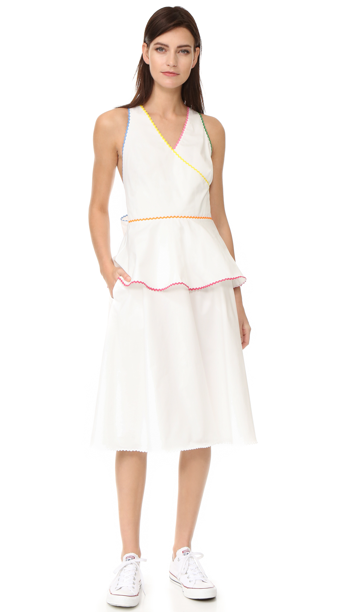 Anna October Sleeveless Dress - White