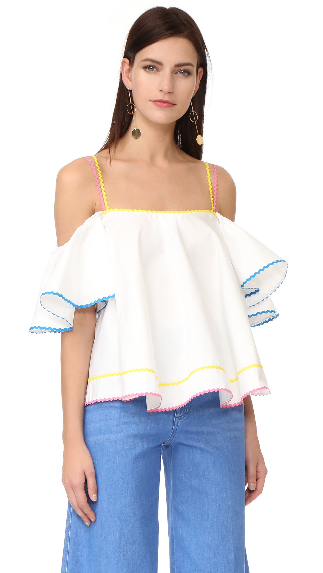 Anna October Off The Shoulder Top - White