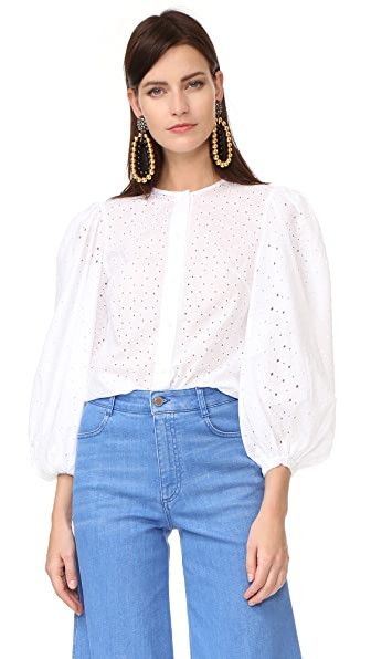 Anna October Perforated Blouse
