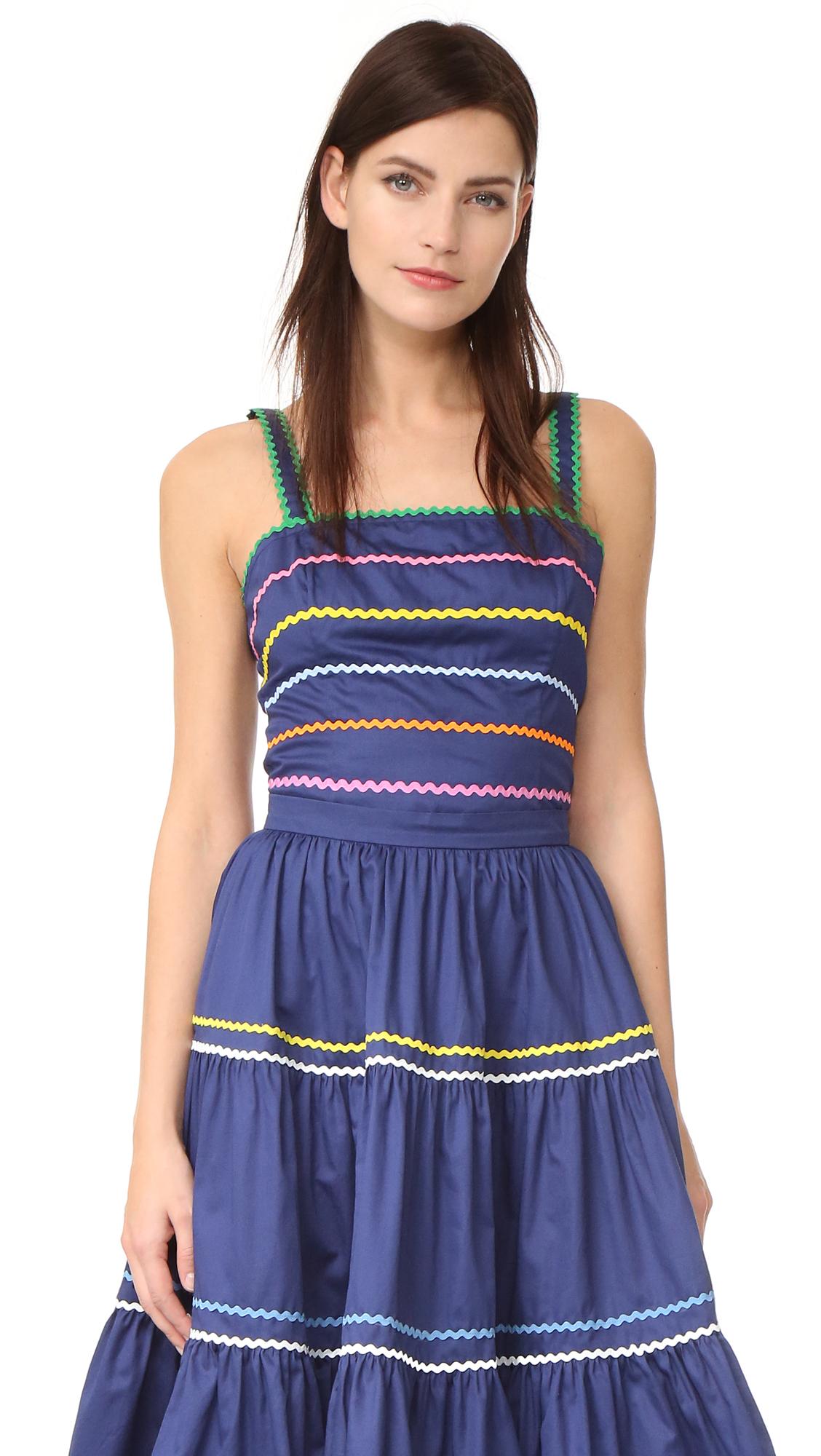 Anna October Sleeveless Top - Navy Multi