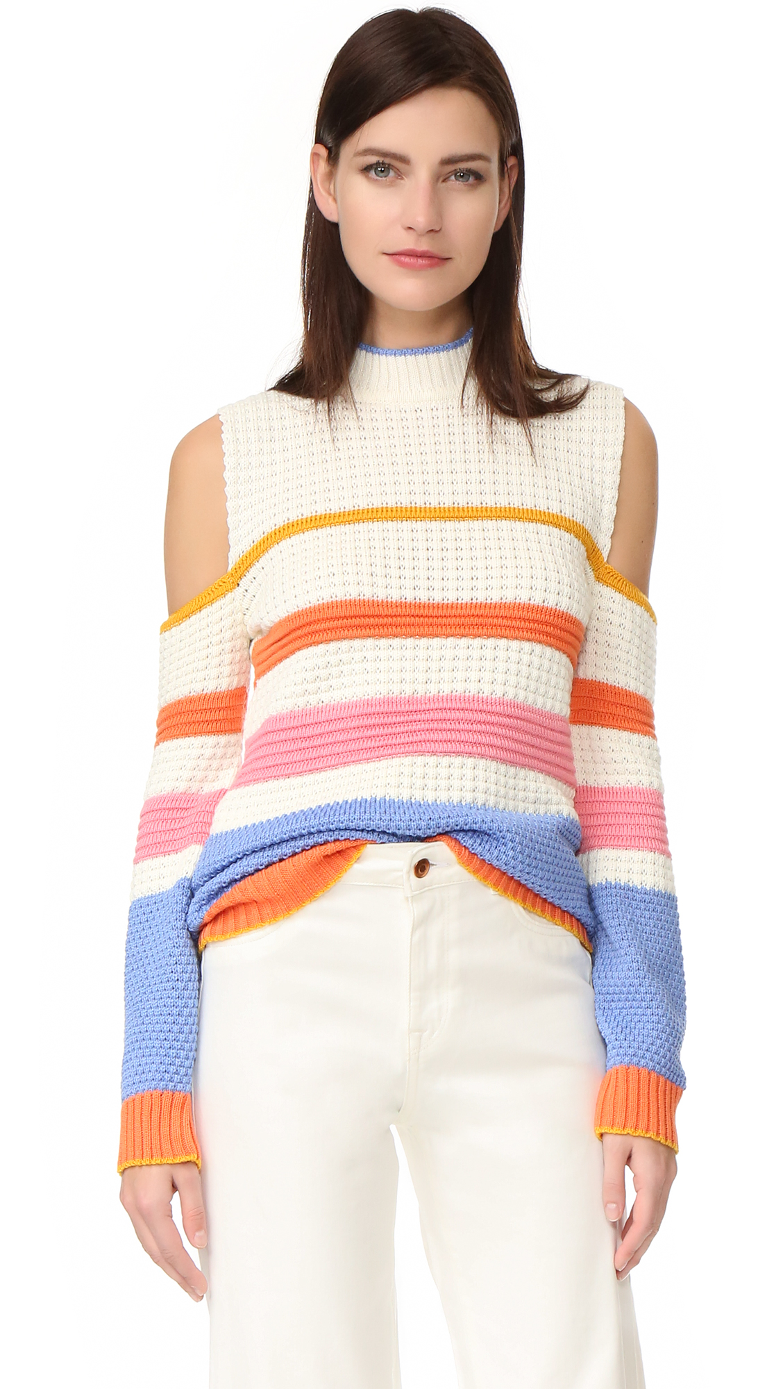 Anna October Striped Sweater - Multi