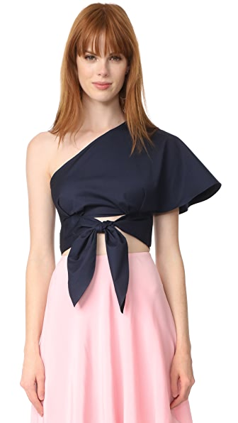 Anna October One Shoulder Top - Navy