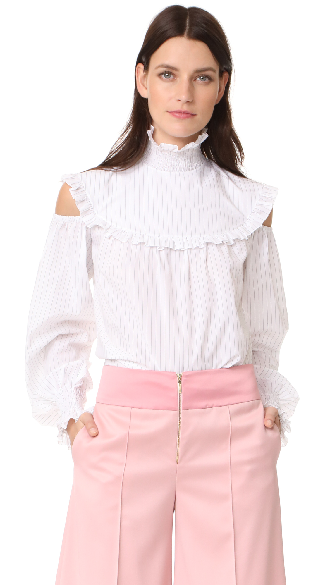Anna October Ruffled Blouse - White