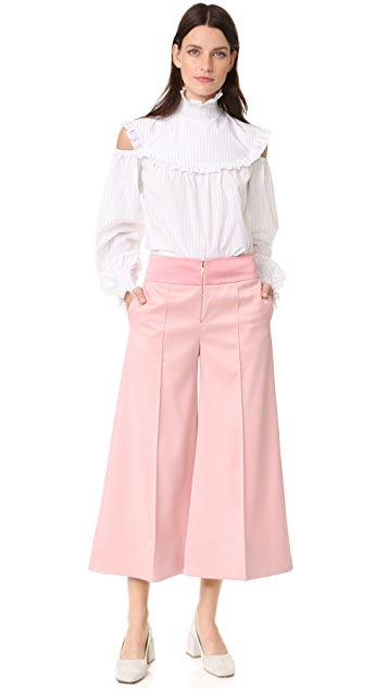 Anna October Cropped Wide Leg Trousers