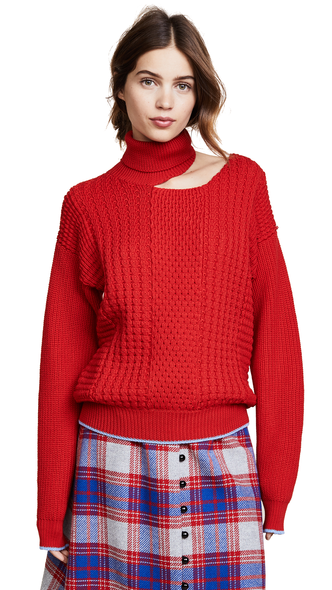 Anna October SLASH SHOULDER SWEATER