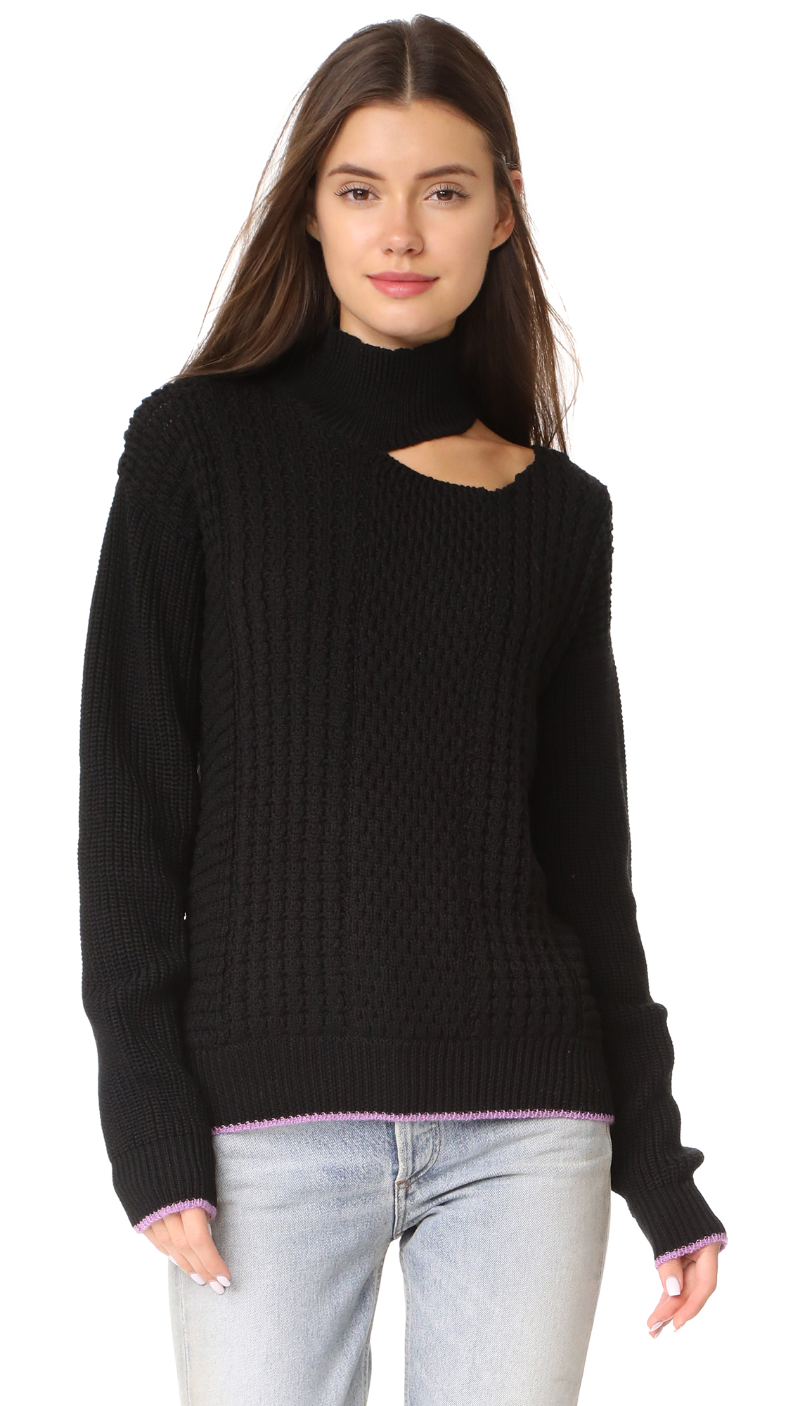 Anna October SLASH SHOULDER KNIT