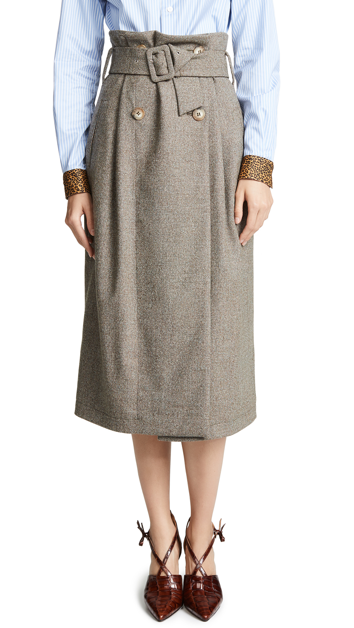 Anna October Tweed Midi Skirt