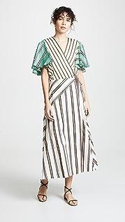 Anna October Mixed Stripe Dress