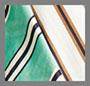 White/Tan/Teal Stripe