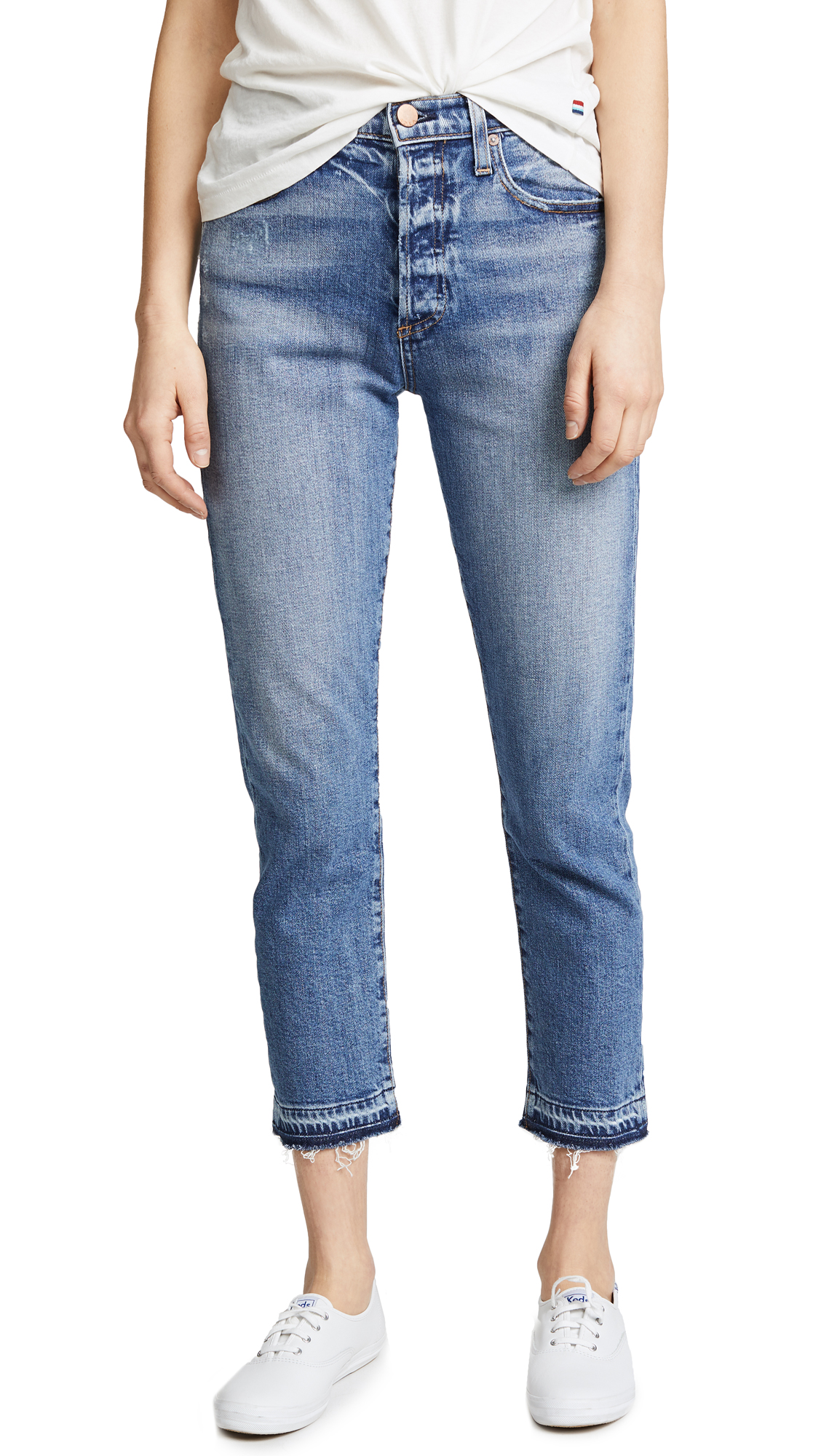 AO. LA by alice + olivia Amazing High Rise Girlfriend Jeans