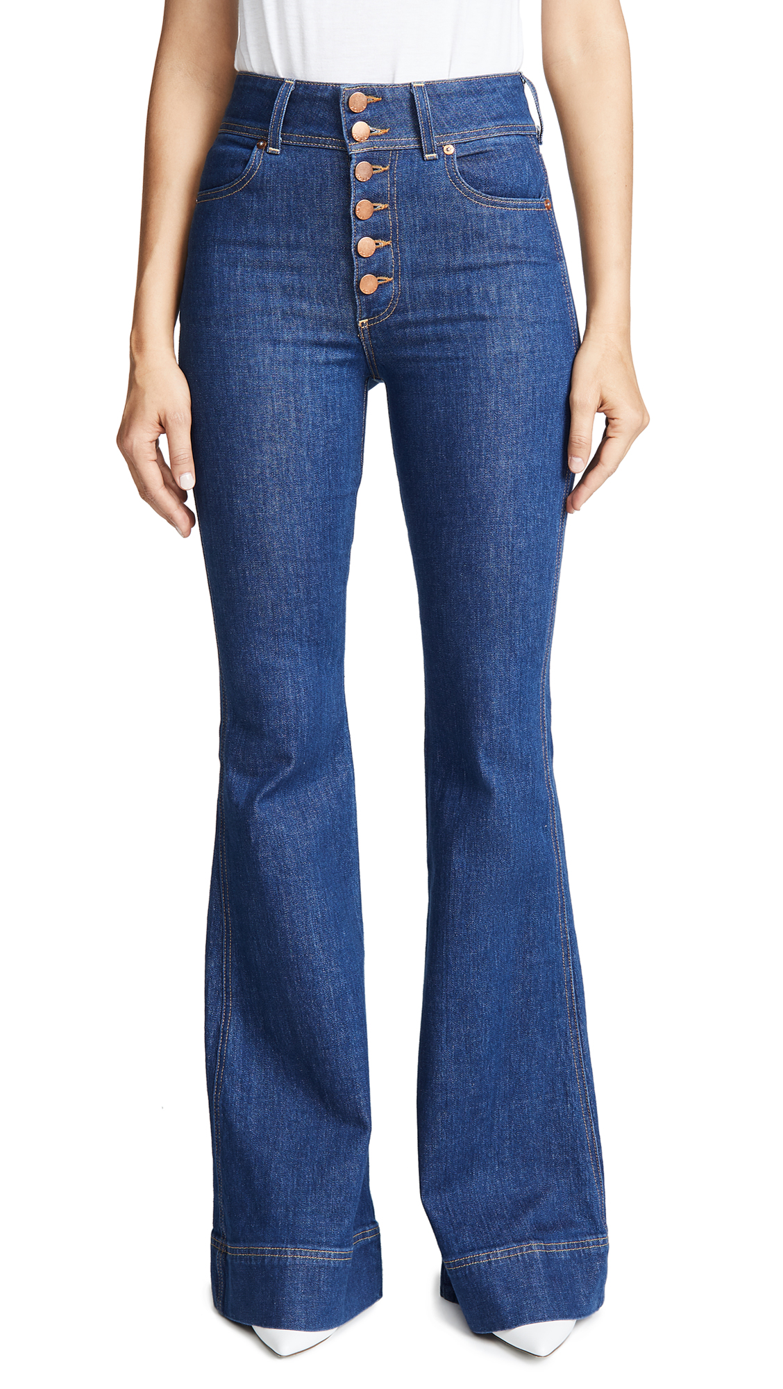 High Rise Bell Jeans