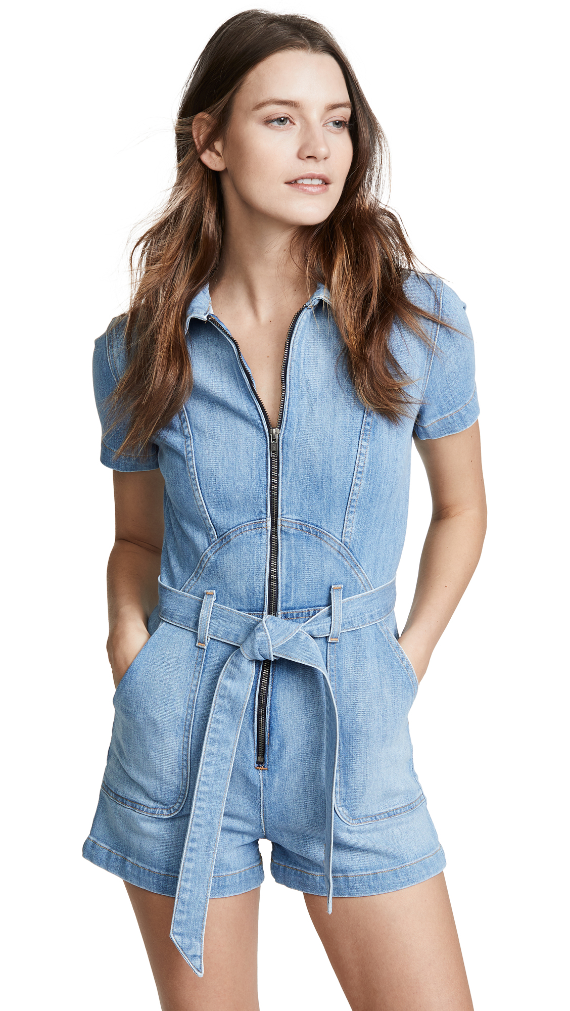 ALICE + OLIVIA JEANS Gorgeous Romper - Fade Away