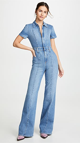 ea661a29af5 Alice + Olivia Jeans Gorgeous Wide Leg Jumpsuit In Love Me