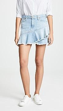 939f2f10ebe6 ALICE + OLIVIA JEANS. Mini Flounce Ruffle Skirt
