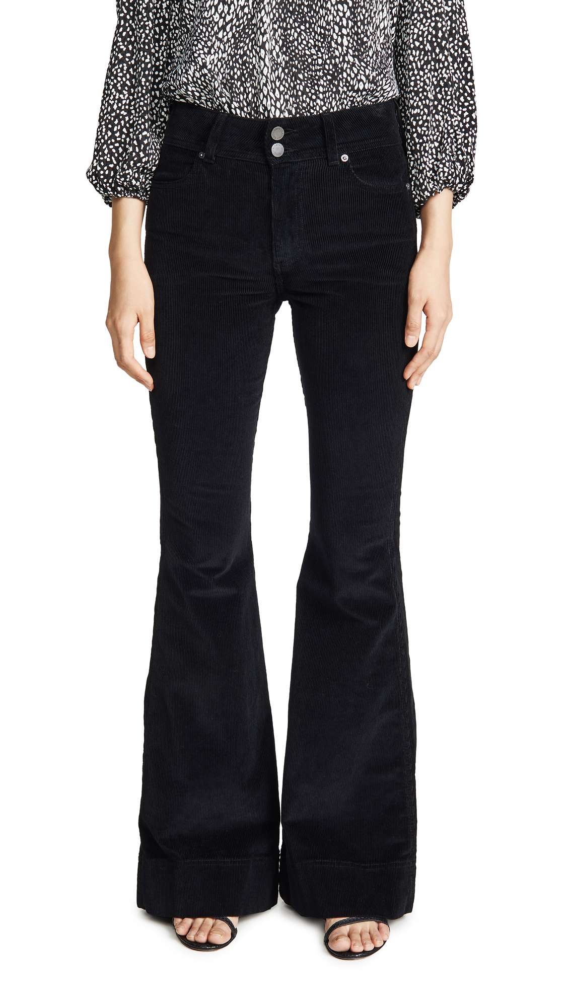 Buy ALICE + OLIVIA JEANS online - photo of ALICE + OLIVIA JEANS Beautiful Exposed Button Bell Jeans