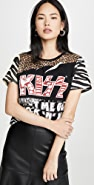 ALICE + OLIVIA JEANS Vintage + Mixed Print Patchwork Tee